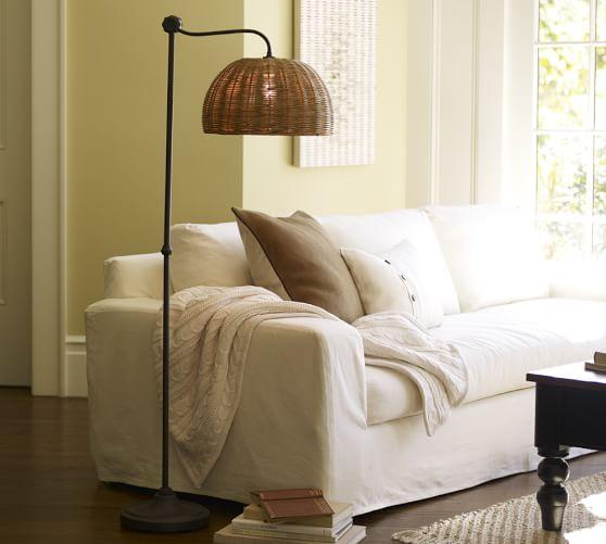 Adairs Rattan Coffee Table: Harlow Floor Lamp
