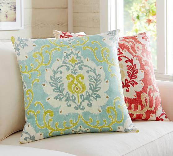 joyce ikat pillow cover pottery barn. Black Bedroom Furniture Sets. Home Design Ideas
