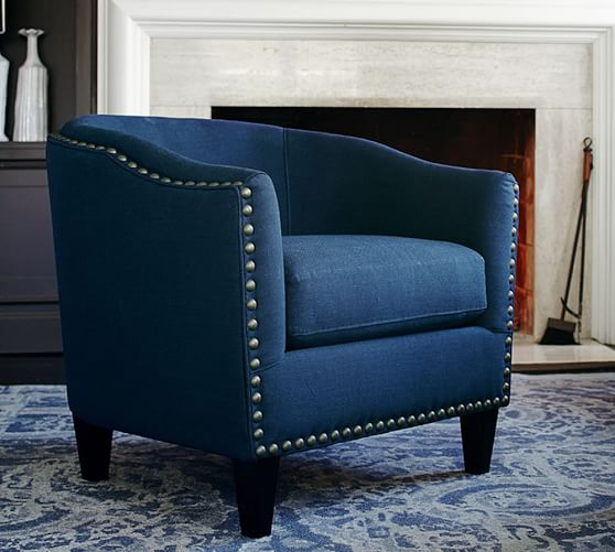 Pottery Barn Chairs Accent: Harlow Upholstered Armchair