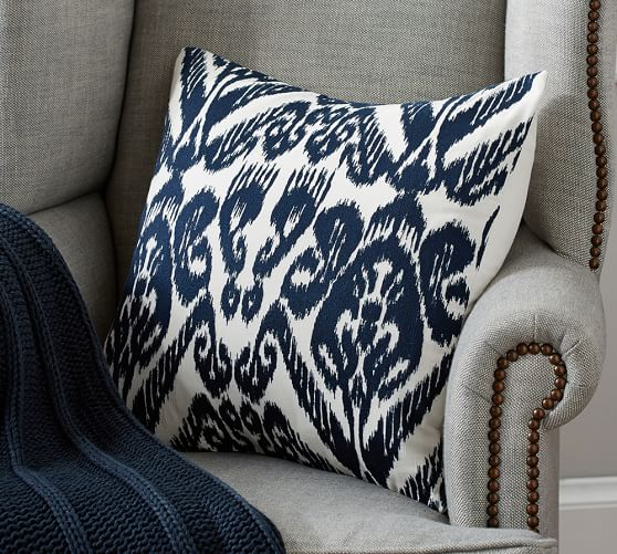 josie ikat embroidered pillow cover pottery barn. Black Bedroom Furniture Sets. Home Design Ideas