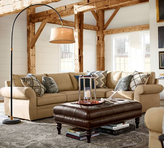 Pearce Upholstered 3 Piece Sectional With Wedge Pottery Barn