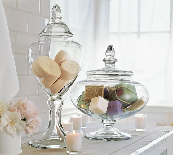voluminous canisters pottery barn