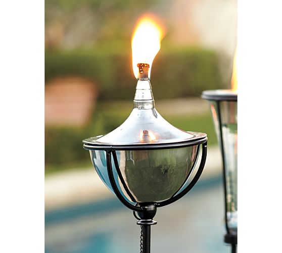 Outdoor Torch Set Of 2 Pottery Barn