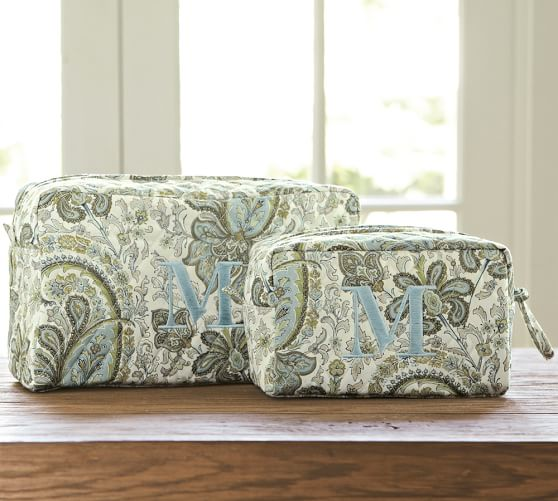 Charlie Paisley Cosmetic Bags Set Of 2 Pottery Barn