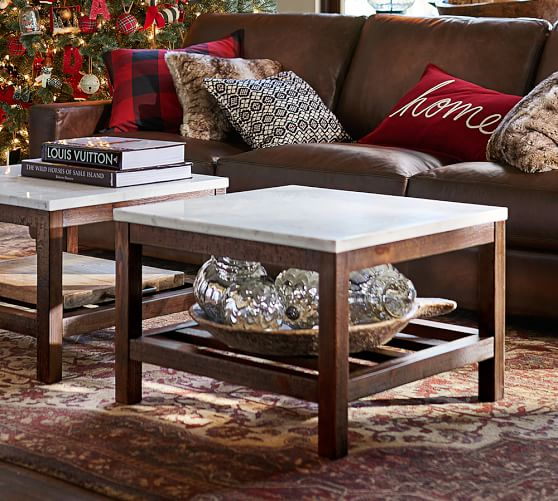 Connor Coffee Table Marble Pottery Barn