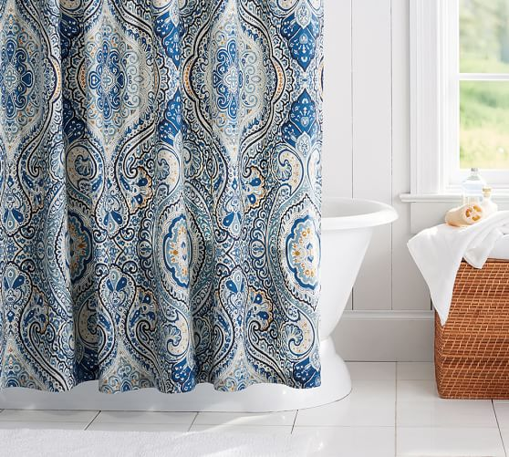 Curtains Ideas blue paisley shower curtain : Grey Paisley Shower Curtain - Curtains Design Gallery