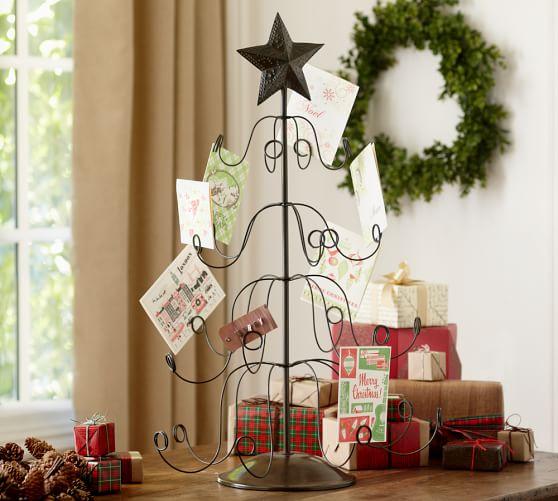tree holiday card holder pottery barn. Black Bedroom Furniture Sets. Home Design Ideas