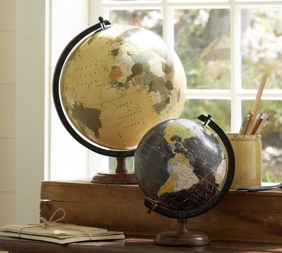 Pottery Barn Globe Lamp: Antique Globes