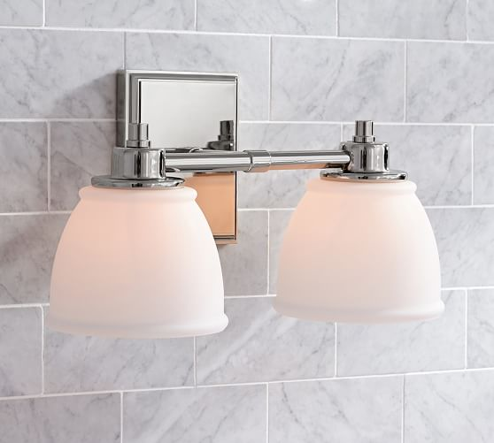 Pottery Barn Wall Lamps: Hayden Traditional Double Sconce
