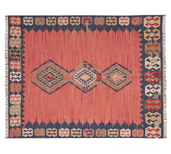 Kilim Rugs Pottery Barn Wool Cotton Kilim Rug 2x3