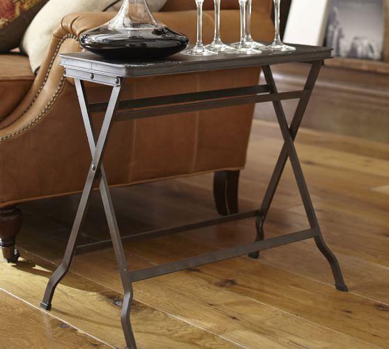 Carter Metal Folding Tray Table Pottery Barn