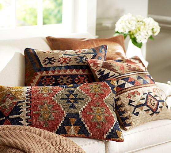 shelton kilim pillow cover pottery barn. Black Bedroom Furniture Sets. Home Design Ideas