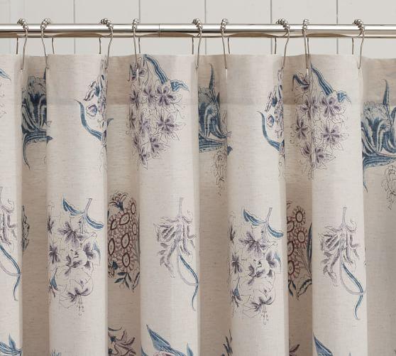 Abigail Floral Shower Curtain