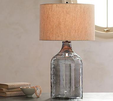 alana luster glass jug table lamp base indigo pottery barn. Black Bedroom Furniture Sets. Home Design Ideas