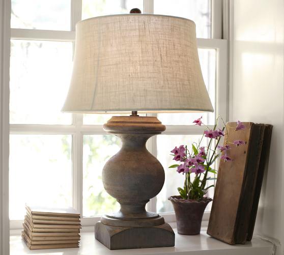 baluster table lamp pottery barn. Black Bedroom Furniture Sets. Home Design Ideas
