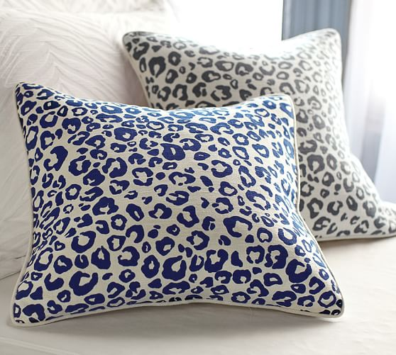 Pottery Barn Decorative Pillow Covers : Cheetah Pillow Cover Pottery Barn