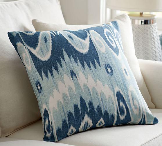 savannah ikat print pillow cover pottery barn. Black Bedroom Furniture Sets. Home Design Ideas