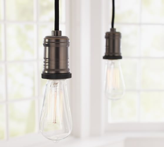 exposed bulb pendant track lighting pottery barn. Black Bedroom Furniture Sets. Home Design Ideas