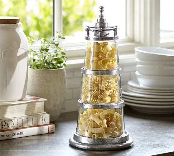 lighthouse stacking canisters pottery barn