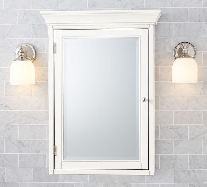 bathroom mirrors  medicine cabinets  pottery barn,