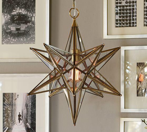 Glass Star Pendant Pottery Barn