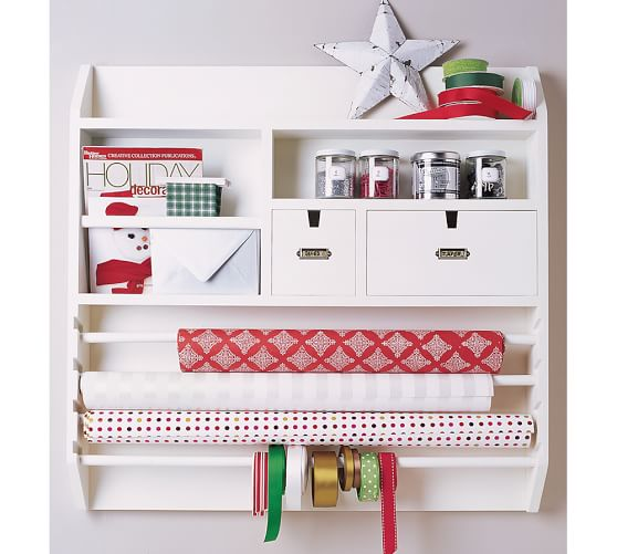 Wall mounted craft organizer pottery barn for Craft wall storage system