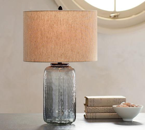 alana luster glass table lamp base indigo pottery barn. Black Bedroom Furniture Sets. Home Design Ideas