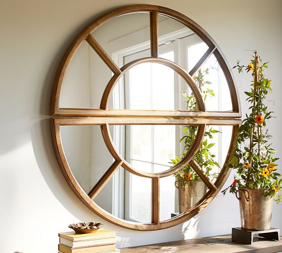 Arched Paned Mirror Pottery Barn