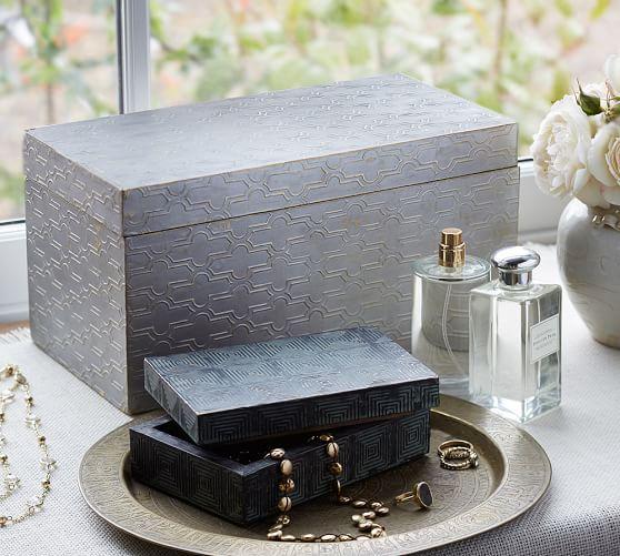 Aluminium Cladding Up Box : Metal clad pattern boxes pottery barn