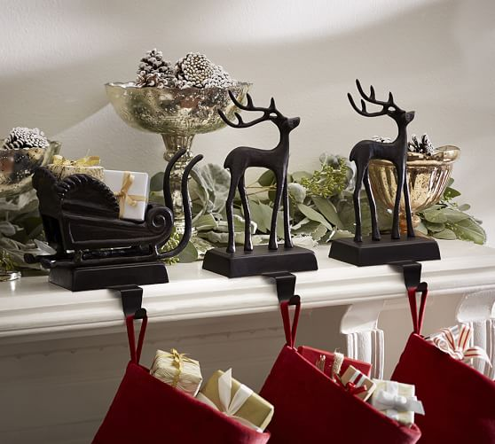 Santa s sleigh stocking holders pottery barn