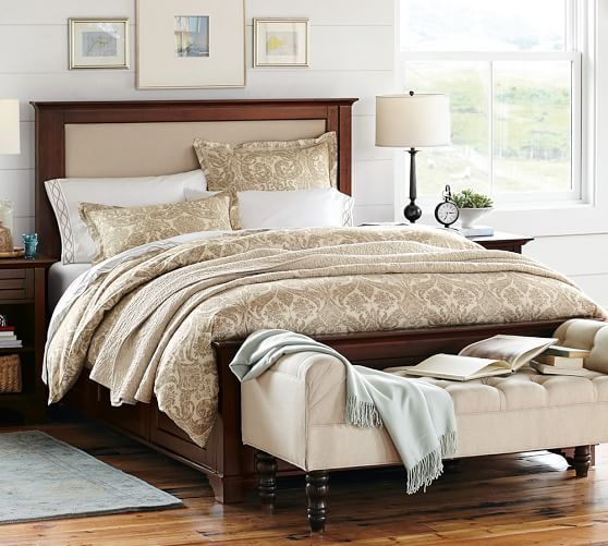 cynthia upholstered storage bed pottery barn