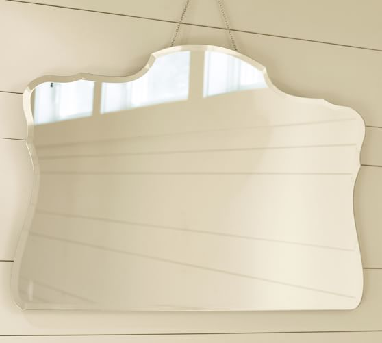 piper frameless bevel mirror pottery barn. Black Bedroom Furniture Sets. Home Design Ideas