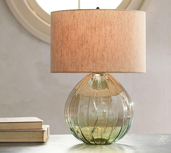 alana luster glass table lamp base green pottery barn. Black Bedroom Furniture Sets. Home Design Ideas
