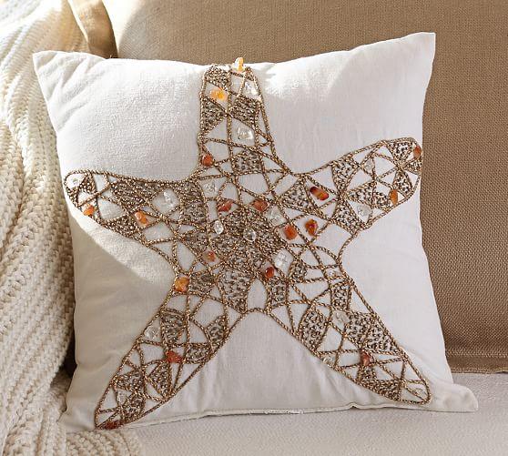 Pottery Barn Furniture Return Policy: Sandy Jeweled Starfish Pillow