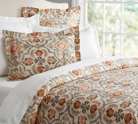 Tenny Tile Duvet Cover Amp Sham Pottery Barn