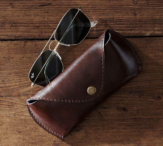 Saddle Leather Eyeglass Case Pottery Barn