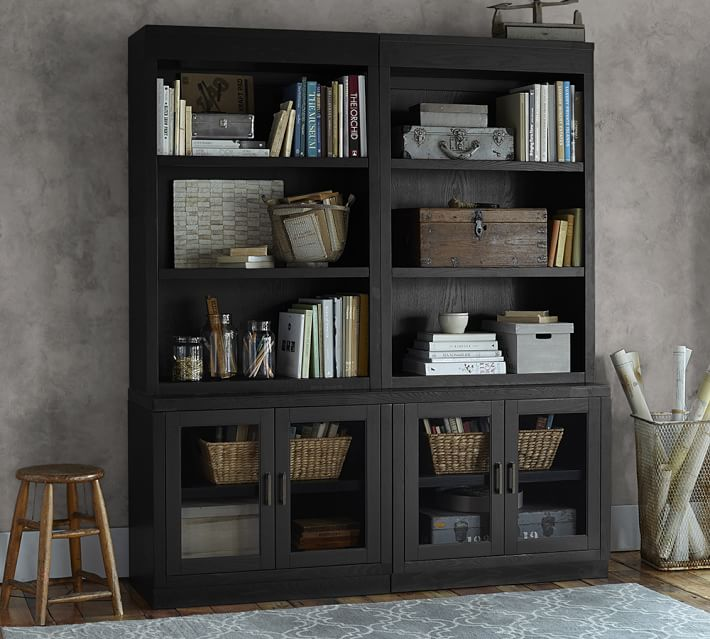 reynolds modular home office open bookcase hutch with glass door bases 2 glass door cabinet barn office furniture