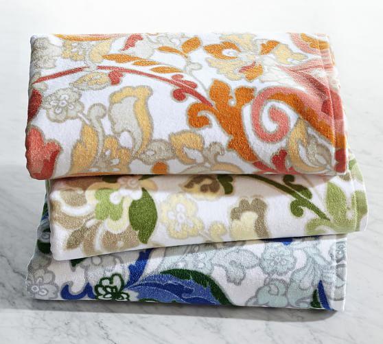 Valentina Printed Bath Towels Pottery Barn