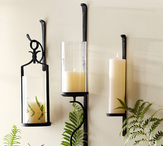 How To Hang Wall Sconces For Candles : Artisanal Wall-Mount Candleholder Pottery Barn