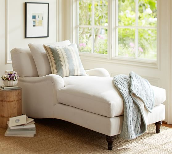 Carlisle Upholstered Chaise Pottery Barn