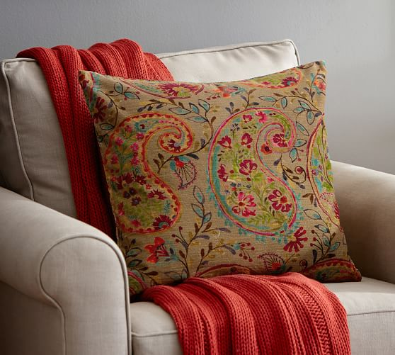 Pottery Barn Velvet Pillows: Rory Paisley Velvet Pillow Cover