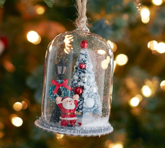 Santa Cloche Ornament