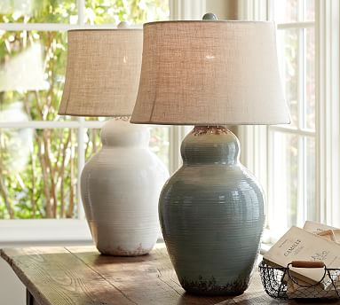 Evelyn Ceramic Table Lamp Base Pottery Barn