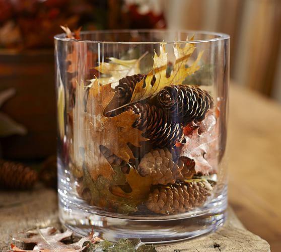 Natural Oak Leaf amp Pinecone Vase Filler Pottery Barn