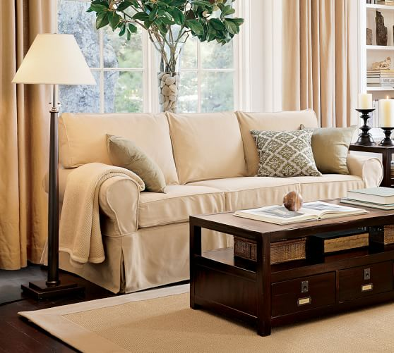 pb basic furniture slipcovers pottery barn. Black Bedroom Furniture Sets. Home Design Ideas