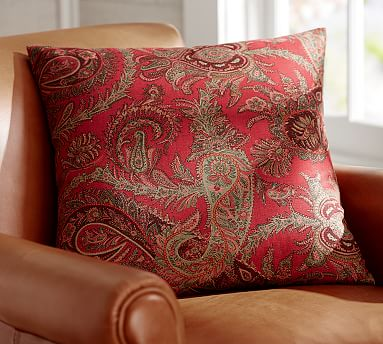 Caroline Paisley Pillow Cover Pottery Barn