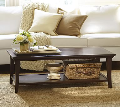 Designer Love Rectangular Coffee - Pottery barn leona coffee table