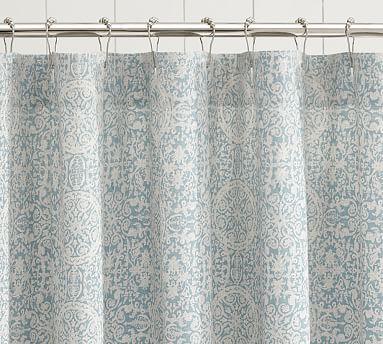 Sammie Tile Shower Curtain Pottery Barn