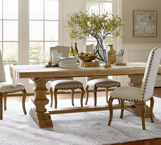 Pottery Barn Wood Table: Banks Reclaimed Wood Extending Dining Table