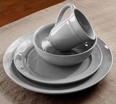 Cambria 16 Piece Dinnerware Set Gray Pottery Barn